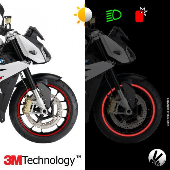 """CIRCULAR™ wheel stripes for 15 to 19"""" motorcycle rims - retro reflective - 3M Technology™"""