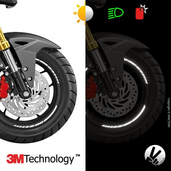 "GP DESIGN™ wheel stripes for 10 to 12"" motorcycle rims - 3M™ retro reflective"