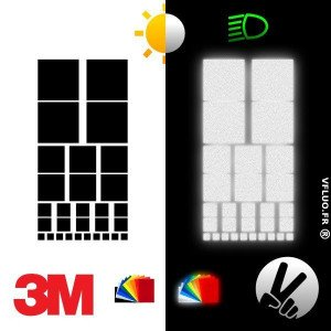 3M™ Reflective stickers kit for visibility and customization - SQUARE 2