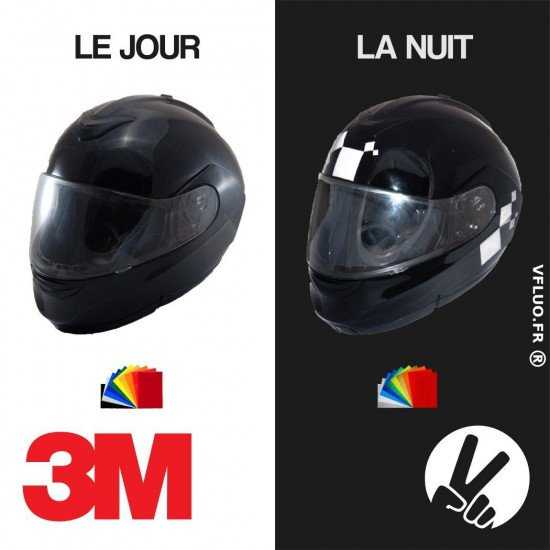 BLACK THE DAY - The black stickers kit on a black helmet