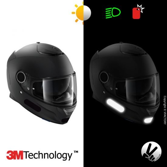 BLACK STANDARD™ Stickers - Reflective kit for motorcycle helmet - 3M Technology™