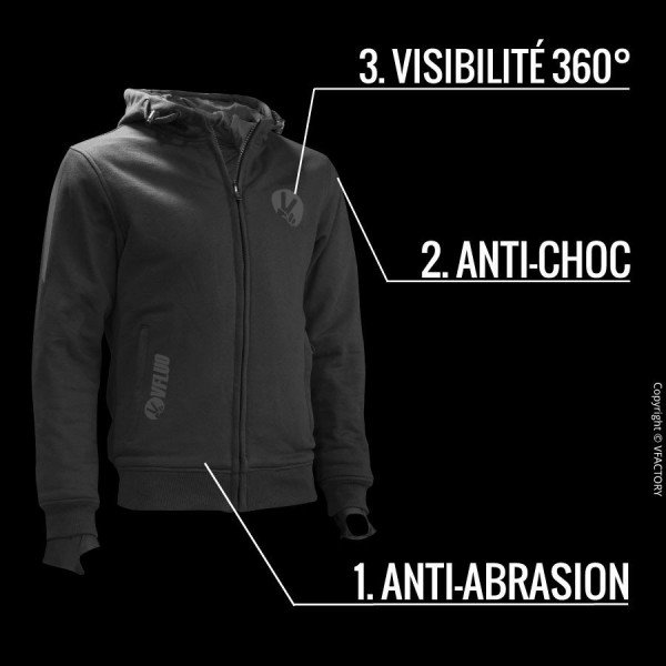FULL PROTECT SWEATSHIRT™ - Protective and Comfortable Motorcycle Clothing