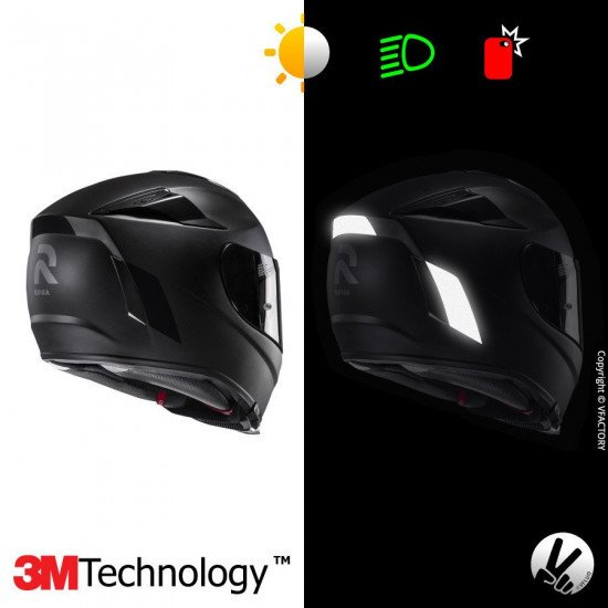 Reflective sticker kit HJC RPHA70™ - 5 self-adhesive strips for motorcycle helmets adaptable multi-model -3M Technology™