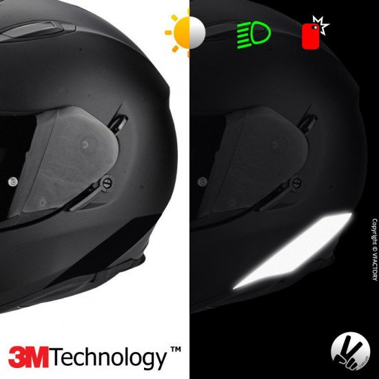 Reflective sticker kit SCORPION EXO510AIR™ - 4 self-adhesive strips for motorcycle helmets adaptable multi-model -3M Technology™