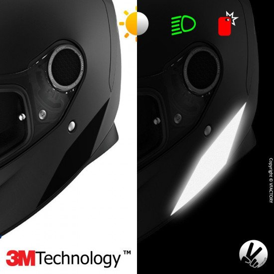 Reflective stickers kit SHARK SPARTAN™ - 4 adhesive strips for motorcycle helmets adaptable multi-model - 3M Technology™