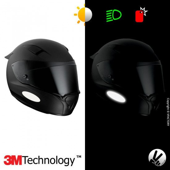 3M™ Reflective Helmet Stickers - WHITE - OVAL 1