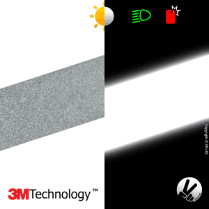 The 3M Scotchlite™ retro reflective fabric tape