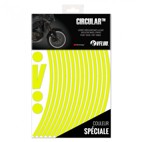 "CIRCULAR™ wheel stripes for 20 to 24"" motorcycle rims - retro reflective - 3M Technology™"