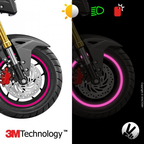 "CIRCULAR™ wheel stripes for 10 to 14"" motorcycle rims - retro reflective - 3M Technology™"