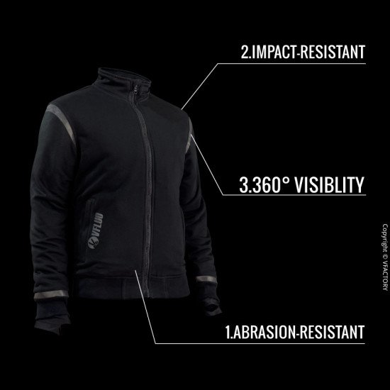 FULL PROTECT CITY CHILL™ - The comfortable motorcycle jacket for your daily trips with or without approved protectors